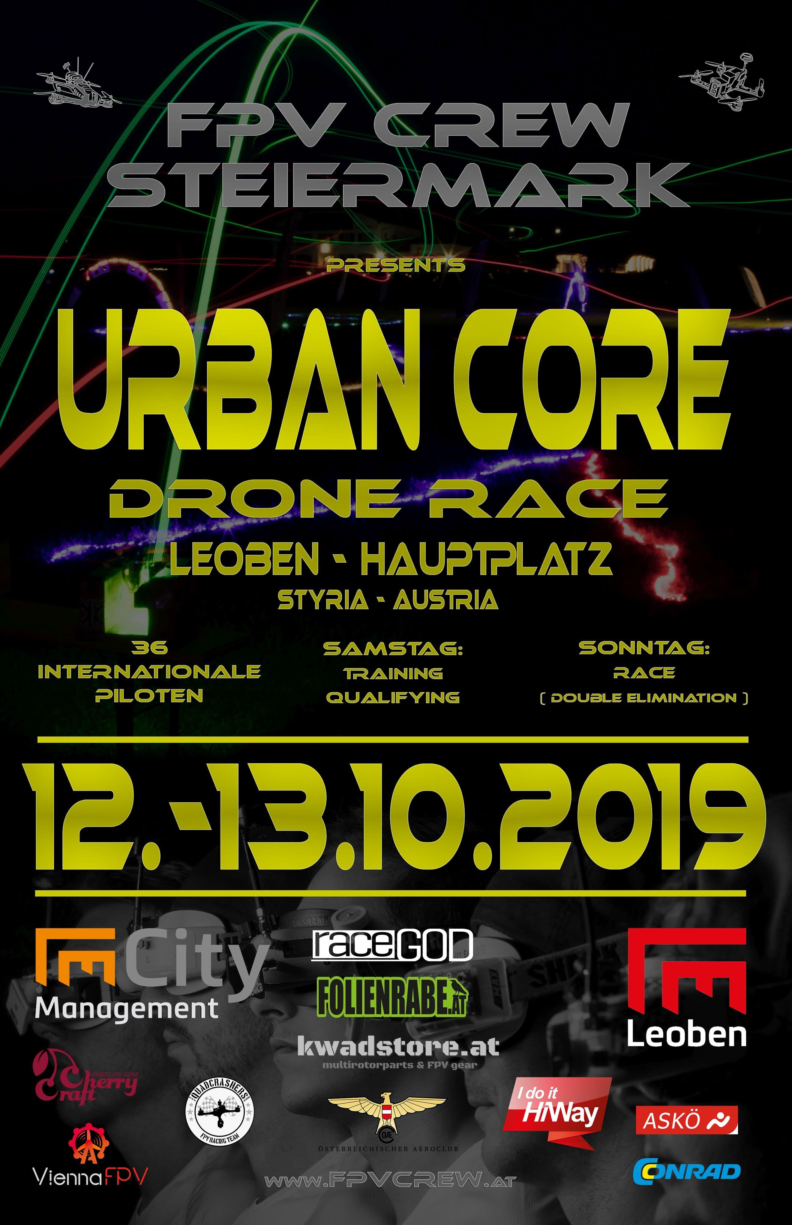 URBAN CORE Drone Race Leoben 2019